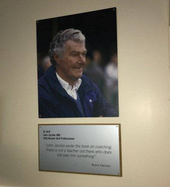 World Golf of Famer, John Jacobs